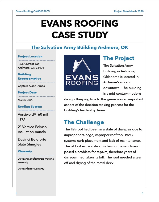 Salvation Army Case Study